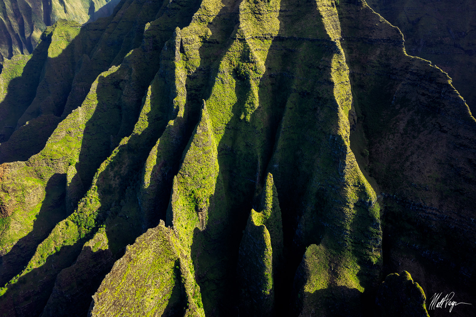 The absolutely insane view of the Na Pali Coast as seen from above in a helicopter.Photo © copyright by Matt Payne.