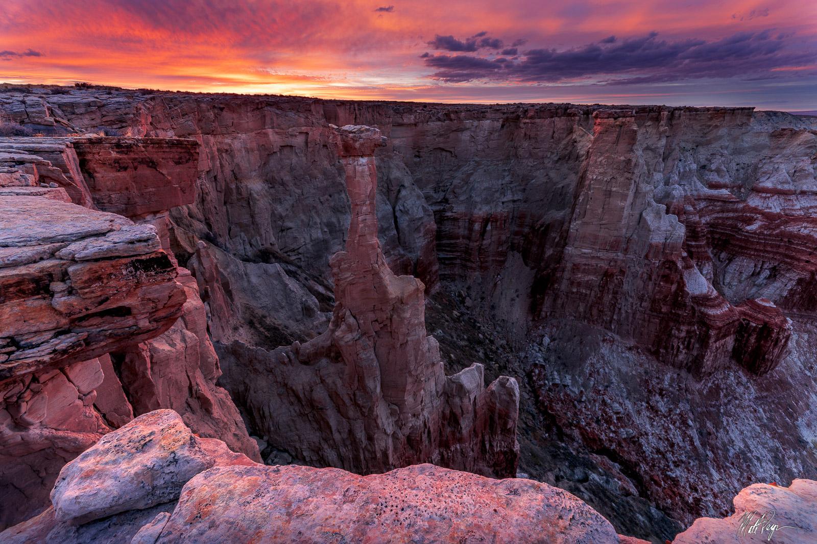 Desert Southwest, Clouds, Hoodoo, Landscape, Sunset, bounce light, canyon, vibrant, photo
