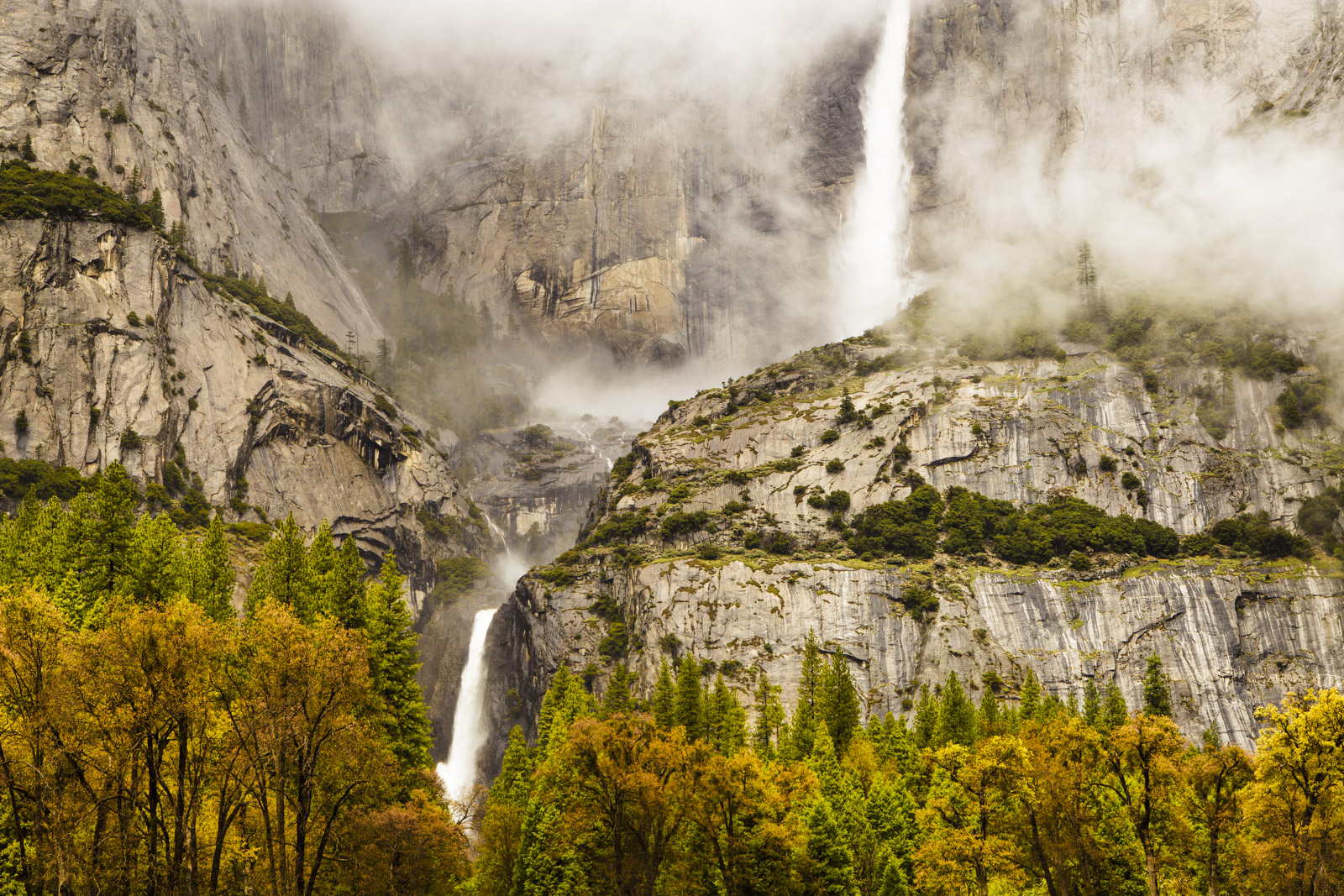 California, North America, Peaceful, Serene, Sierra Nevada, Tranquil, USA, Waterfalls, Yosemite Falls, Yosemite National Park, Yosemite Valley, colorful, description, feelings, misty, moody, seasons, , photo