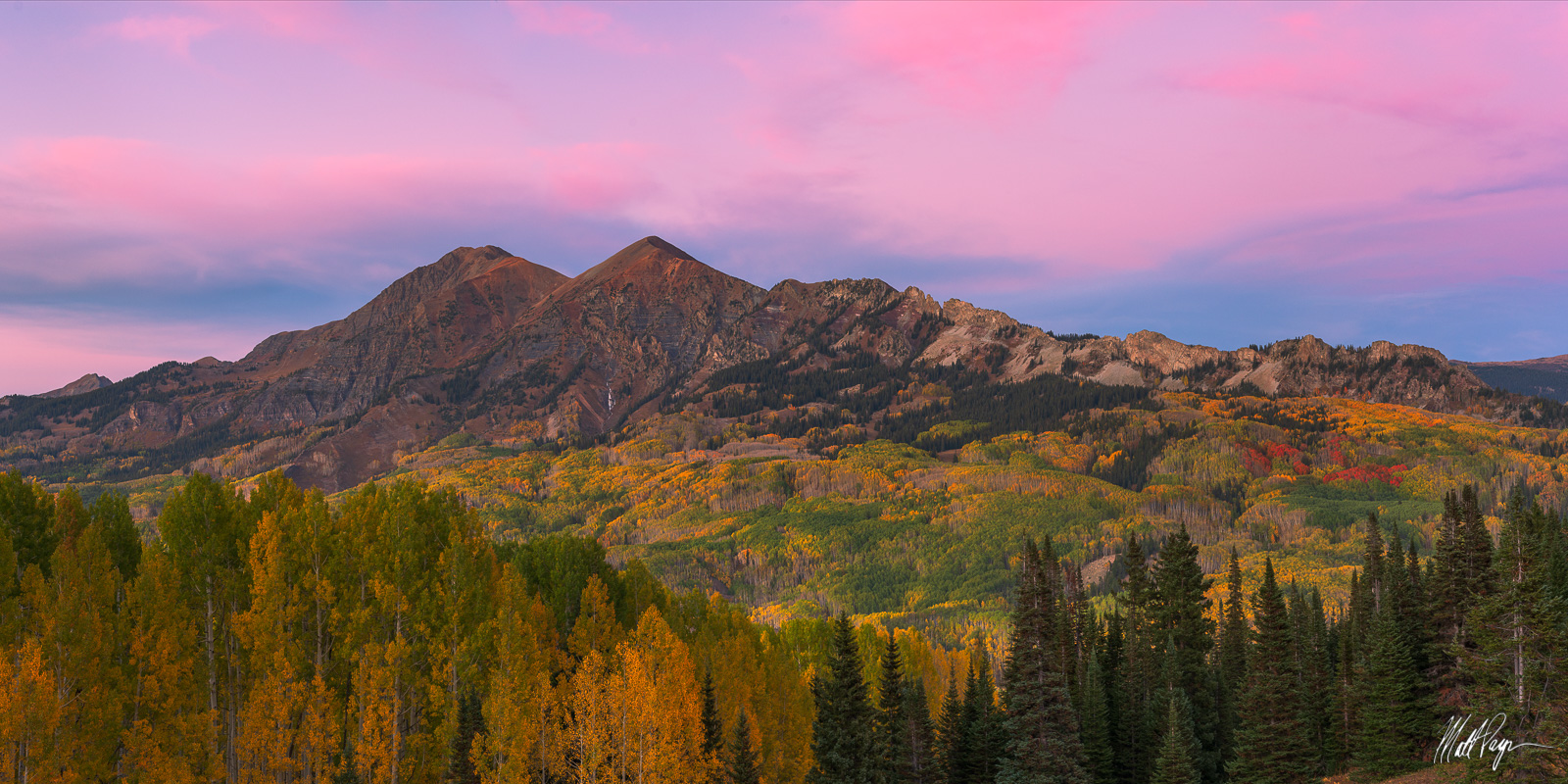 Autumn, Colorado, Crested Butte, Fall, Fall Colors, Kebler Pass, Landscape, Mount Owen, Mountains, Ruby Mountain, unique, Dyke, rare, panorama, photo