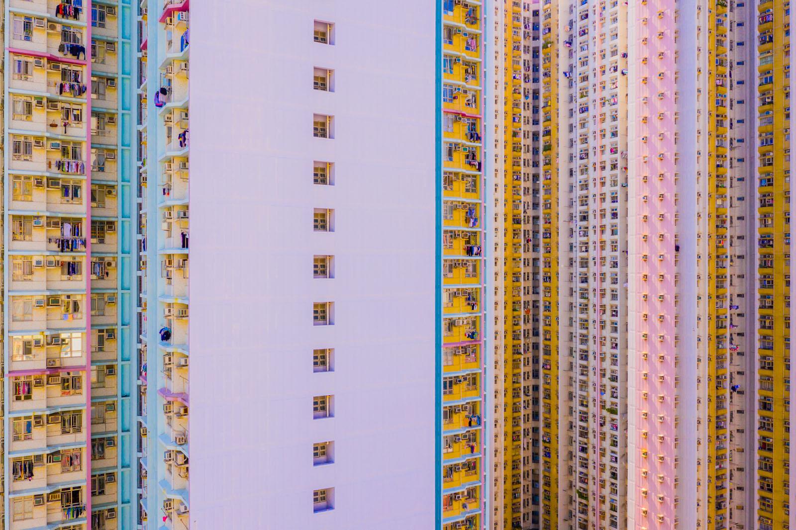 2018, Hong Kong, abstract, aerial, apartments, block tower, china, complex, drone, estates, highrise, homes, housing, kowloon...