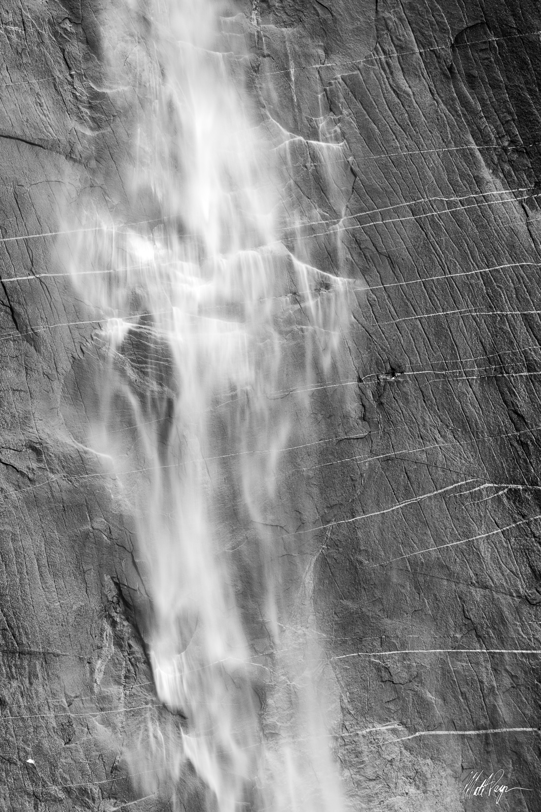 Black and White, Upper Yosemite Falls, Yosemite National Park, photo