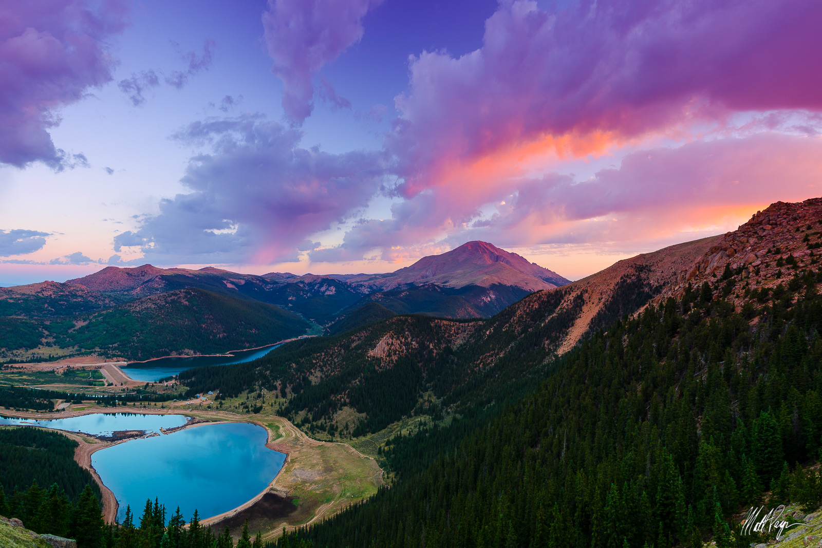 14er, Almagre Mountain, Colorado, Colorado Springs, Front Range, Lake, Lakes, Landscape, Matt Payne Photography, McReynolds Reservoir, Mountain, Pikes Peak, Sunrise, Landscape Photography, photo