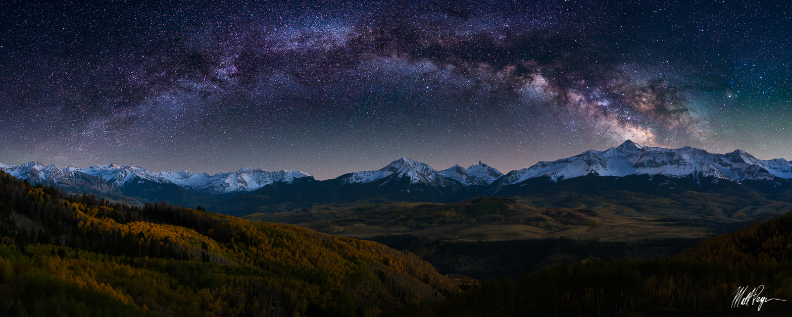 Telluride, Milky Way, 14er, Wilson Peak, Lizard Head Peak, 13ers, autumn, stars, Ice Lake Basin, Panoramic, Last Dollar Road, Colorado, photo