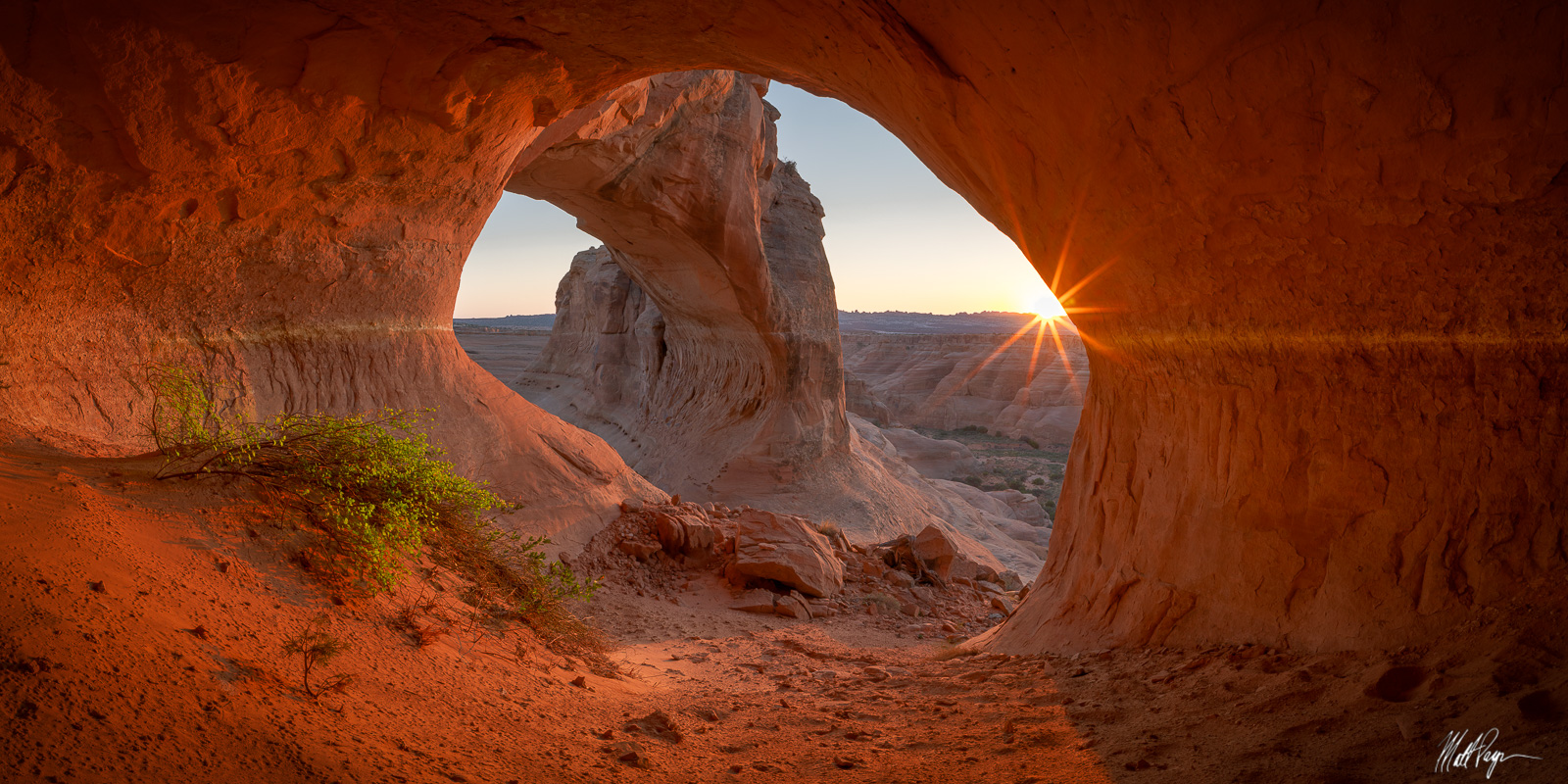 This rarely photographed arch is found near Arches National Park and Moab, Utah. I waited until the last moment of sunset in...