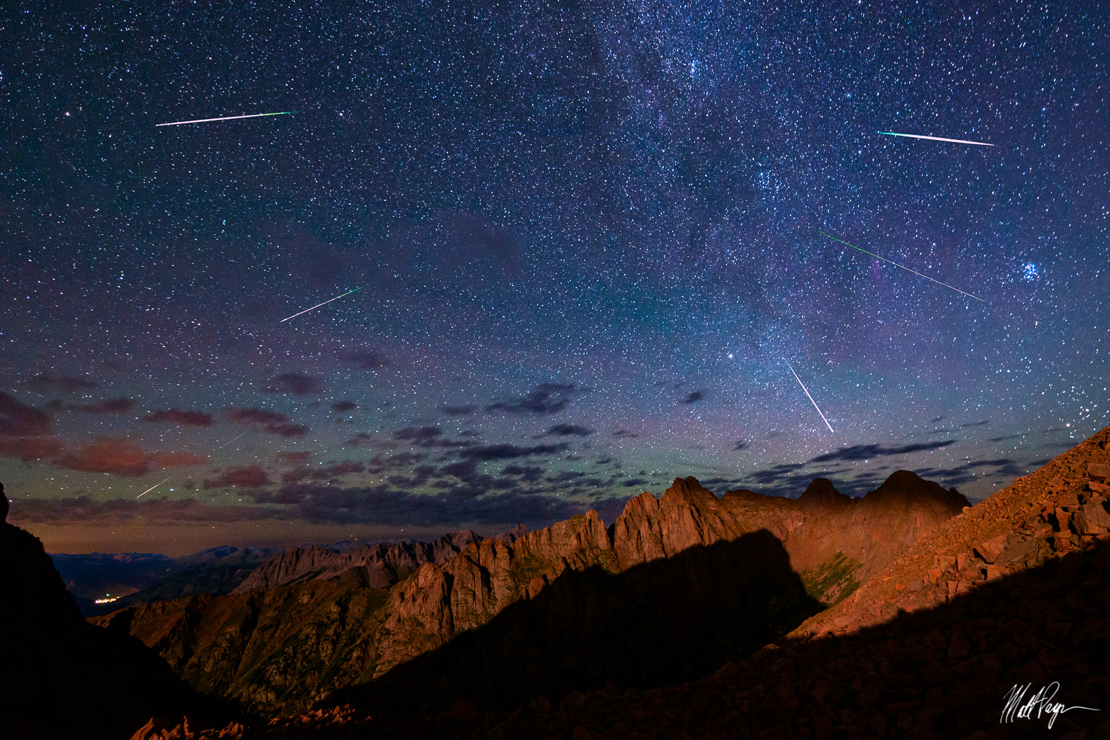 13ers, Animas Mountain, Colorado, Durango, Needle Range, Landscape, Meteor Shower, Monitor Peak, Needle Range, Night, Perseid Meteor Shower, San Juan Mountains, Silverton, magical, stars, photo