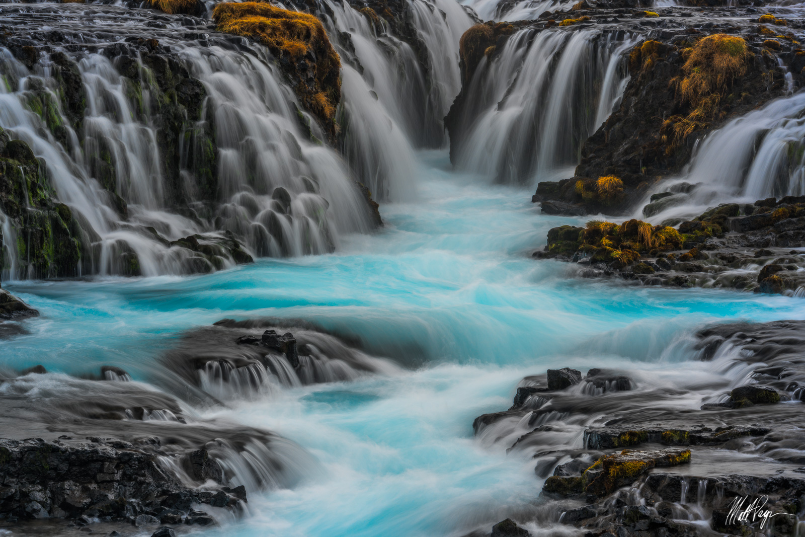 Brúarfoss, Iceland, Landscape, Magical, Sublime, Water, Waterfall, beautiful, flowing, turquoise, calm, photo