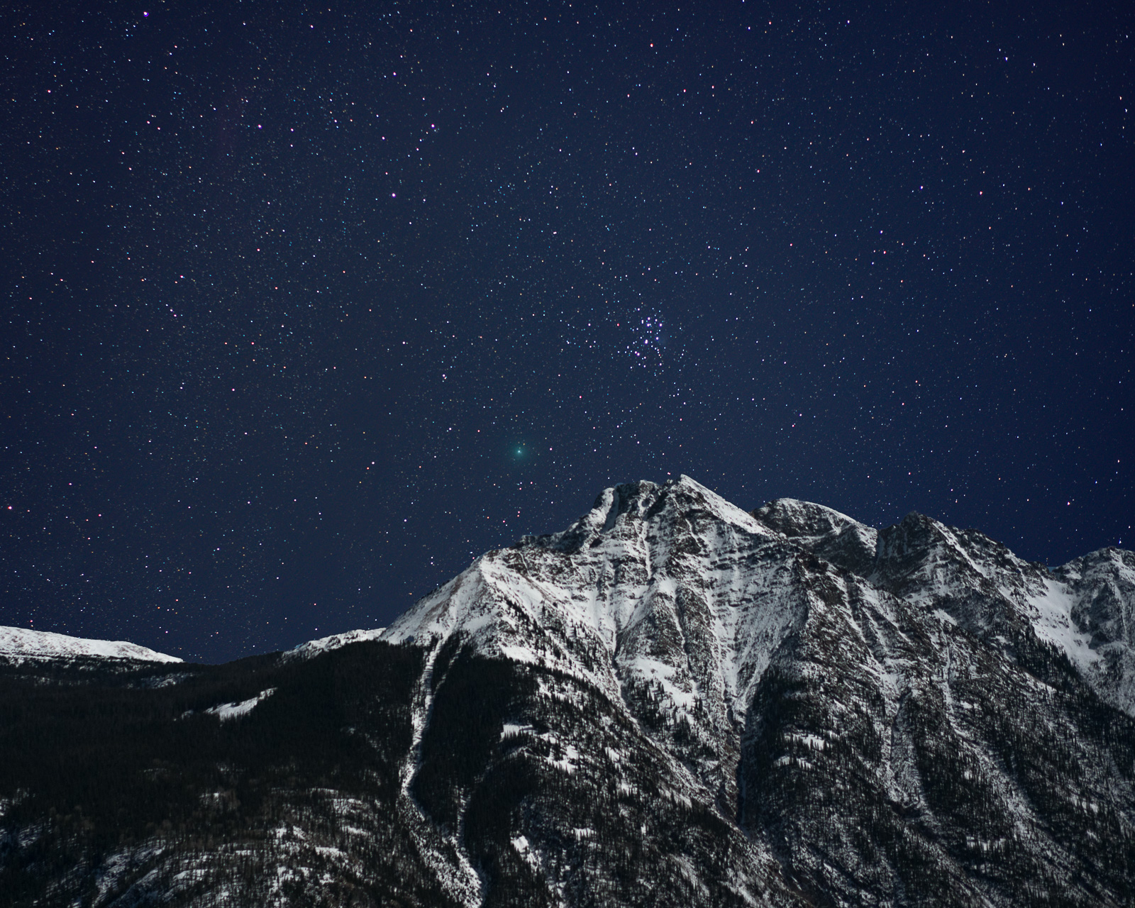 46P/Wirtanen, Colorado, Comet, Durango, Night, Twilight Peak, photo