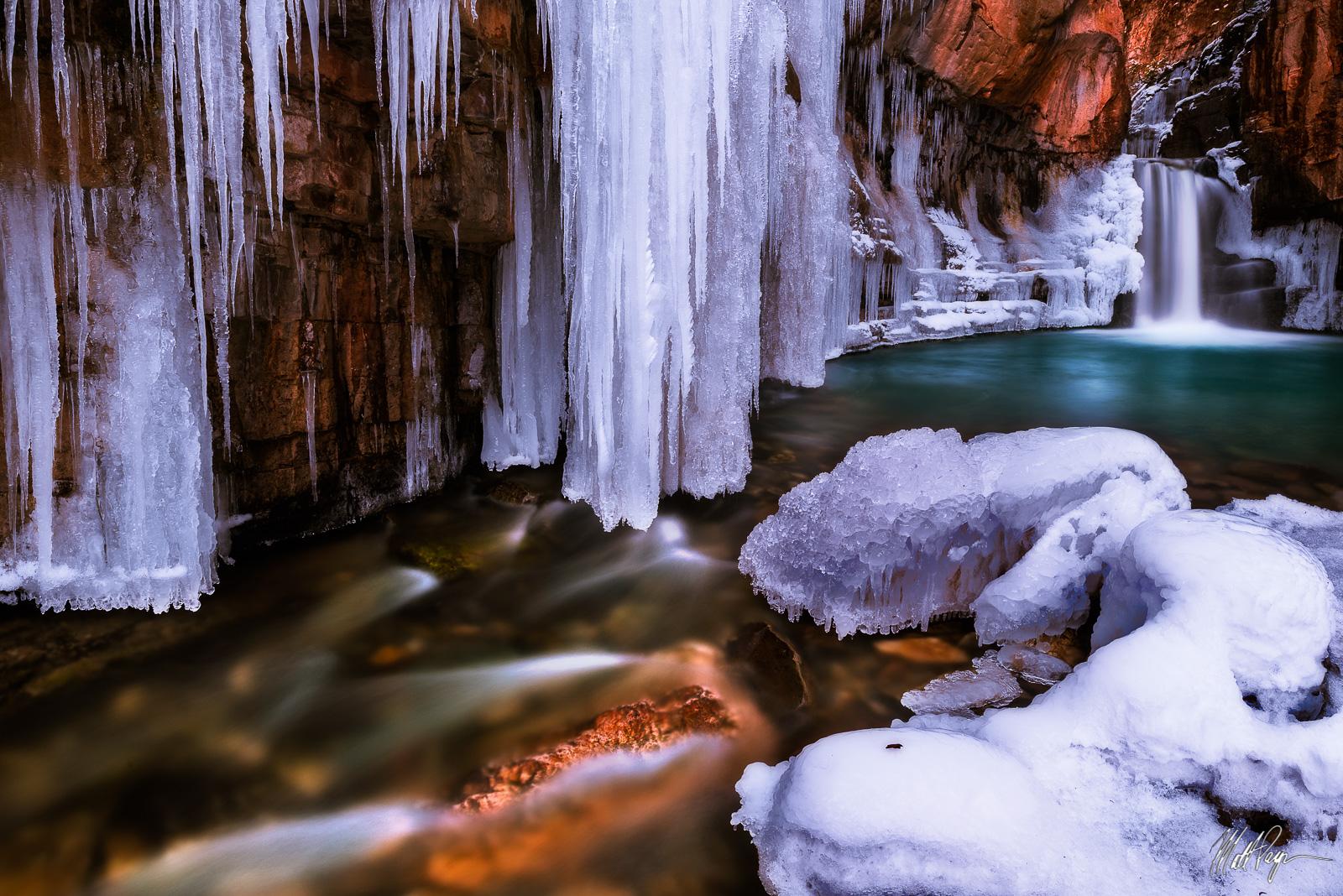 Colorado, Durango, Ice, San Juan Mountains, Southwest Colorado, Waterfall, Winter, Cascade Creek Falls, photo