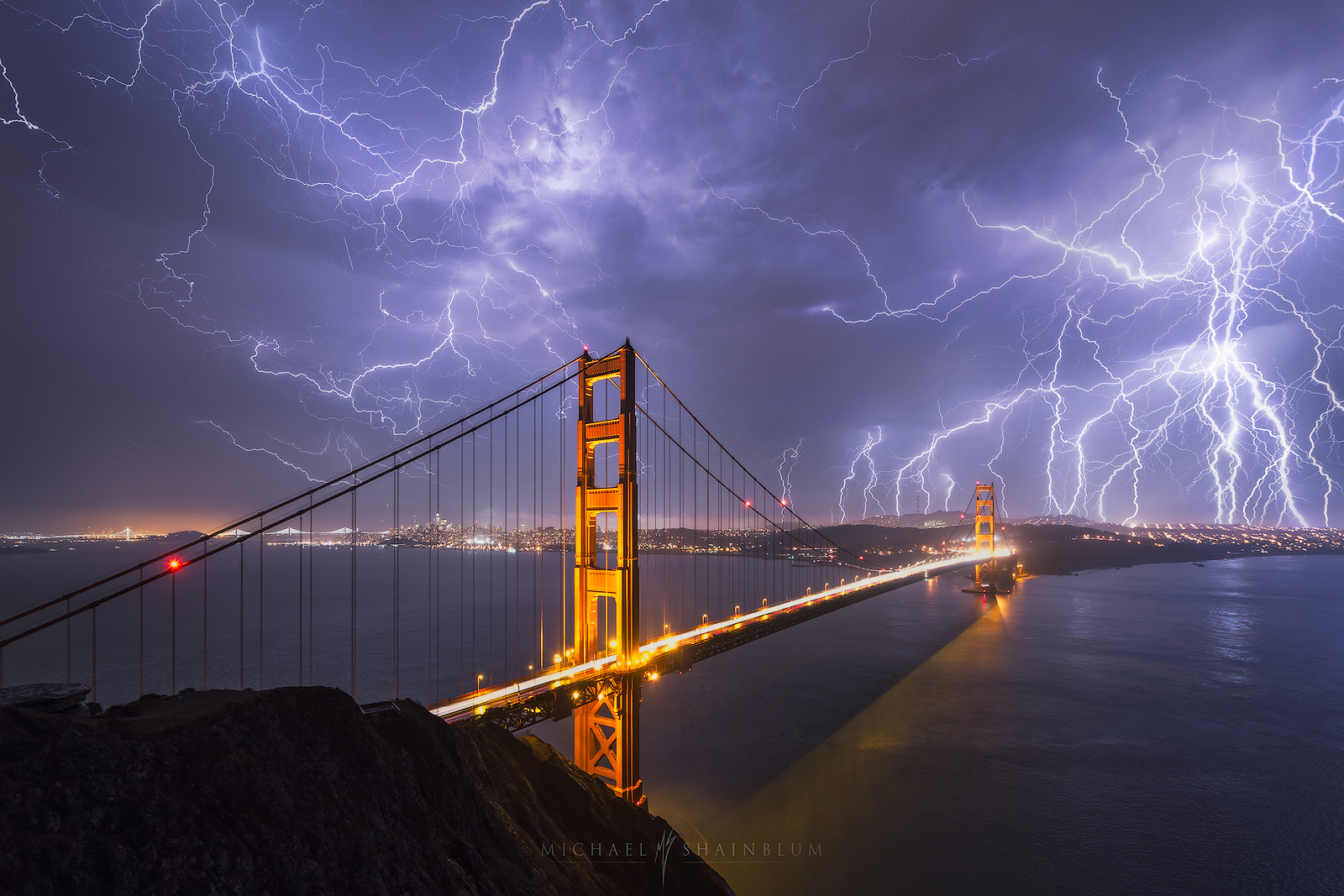 California, Long Exposure, cityscape, golden gate bridge, landscape photography, lightning, night, san francisco, san francisco photography, photo